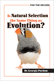 Is Natural Selection the Same Thing as Evolution?: Single Copies